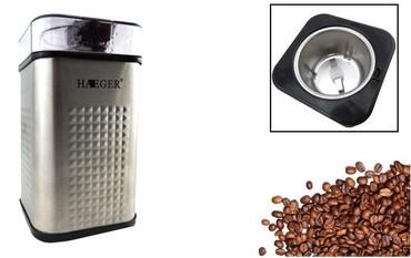 Кофеварки и кофемашины в Кыргызстан: Кофемолка HAEGER HG-711110 секунд высокоскоростного шлифованияГлубокий