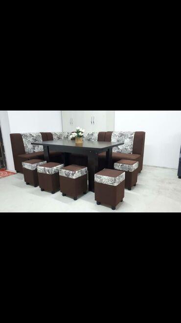 кухонный стол купить в Кыргызстан: Комплект стол и стулья | Офисный, Для кафе, ресторанов, Спальный, туалетный, дамский | на 9-12 персон