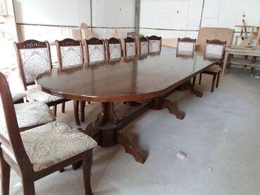 стол для гостиной в Кыргызстан: Принимаем заказы на столы и стулья из Карагача местного производства