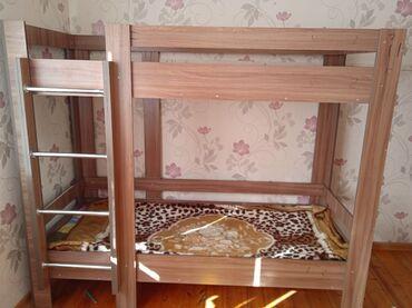 Односпальные кровати - Кыргызстан: Продаю кровати двухъярусные. В наличии имеется 3 кровати. Состояние