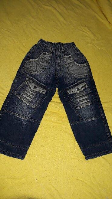 Termo-pantalone - Srbija: Termo farmerice za decaka, velicina 3-4 godine