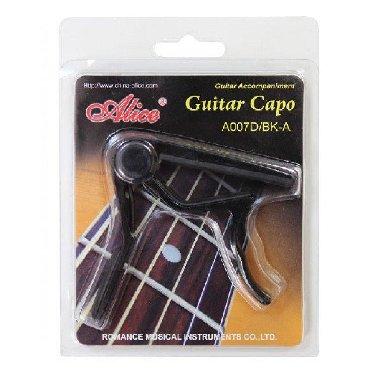 металлический шифер цена бишкек в Кыргызстан: Каподастр для акустической гитарыALICE A007D/BK-A  Описание:  Капода