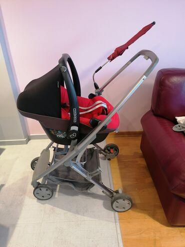 Bebi oprema - Srbija: Jaje sa ramom Quinny Senzz sa adapterima i sa nosiljkom za bebe