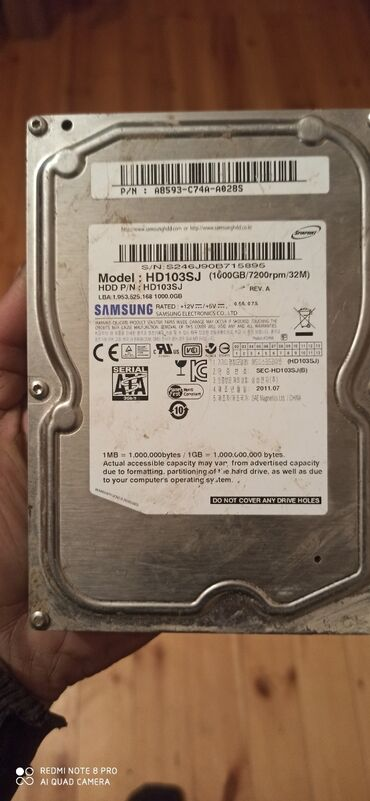 hard disc - Azərbaycan: Hard disk isdey 1000 gb