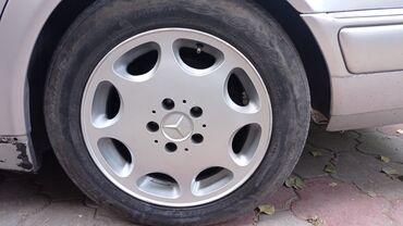 Шины и диски - Ширина: 225 - Бишкек: Продаю 16 ромашки от Е500 вылит дисков 8J ET36 диски не вареные и не