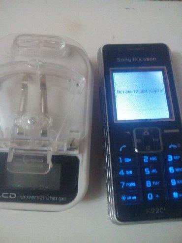 Sony Ericsson Azərbaycanda: Salam şəkildə olan soni Ericsson k220i tək bir problem zaryadka yerini