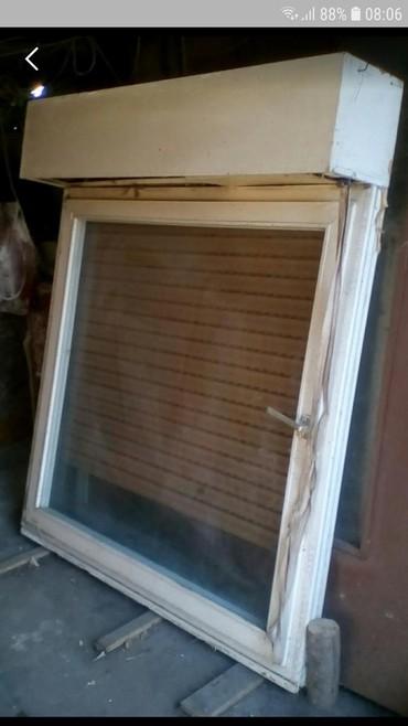 Dzemper na kopcanje - Backa Topola: Polov.prozor jednokrilni sa duplim staklom i roletnom na kip. dim