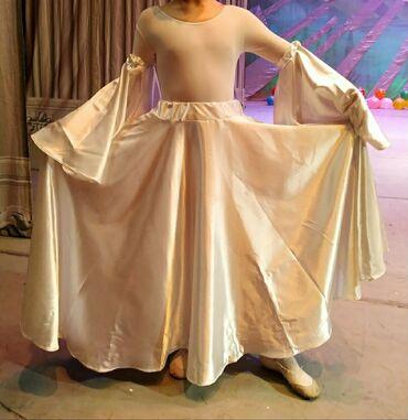 купальник на девочку 13 лет в Кыргызстан: Костюм белый для танцев с белым купальником. На девочку 6-9 лет
