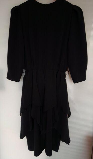 Poliester - Srbija: Your sixth sense prelepa i kvalitetna haljina crne boje, veličina 46