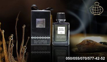Bakı şəhərində Fragrance World Black Leather Eau De Parfum for Men Natural Sprey