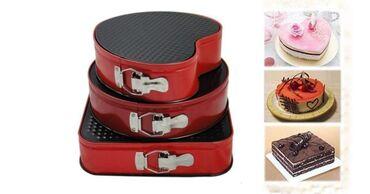 Kuća i bašta - Kursumlija: Set od 3 različita kalupa za kolače i torteSamo 1.550 dinara.Porucite