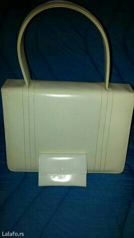 Bela ženska torba,ima dve pregrade i novčanik. Dimenzije su :visina - Novi Sad