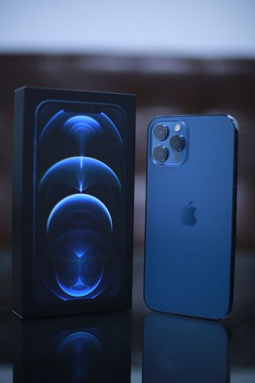 iphone под подушкой в Кыргызстан: Б/У iPhone 12 Pro Max 128 ГБ Синий