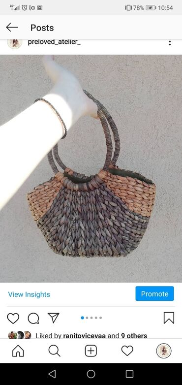 Pletena jaknica - Srbija: Predivna pletena torbica