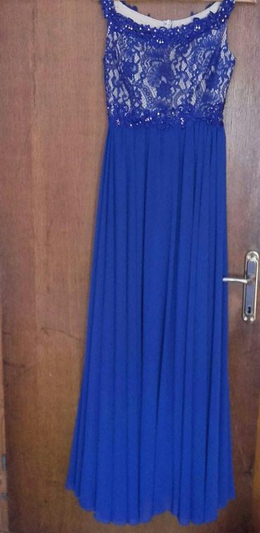 Duga leprsava haljina - Kraljevo: Duga svecana haljina, velicina 38, jednom obucena