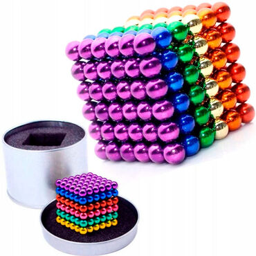Неокуб 216 цветных магнитных шариков 5мм.Два варианта: 6 и 8