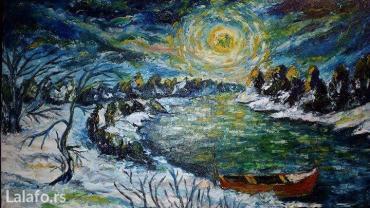 Ulje na platnu, akademski slikar ( Zima ) - Kragujevac - slika 2