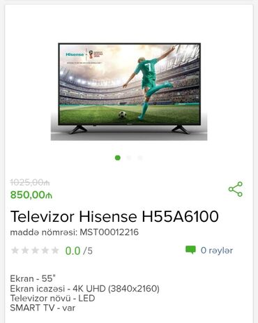 tv tuner - Azərbaycan: 140 ekran tvNagd aliwda 765 Azn4k UHDSmart tvDaxili tuner Atv kart