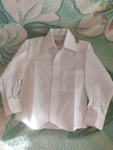 Белая рубашка на мальчика 3-4года. 26 размер!!!!Новая не разу не