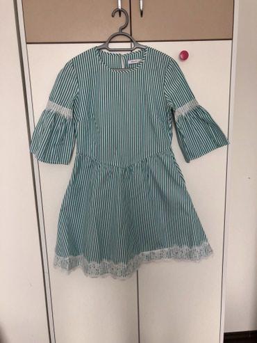 Reserved haljina zeleno bela, na prugice.  - Belgrade