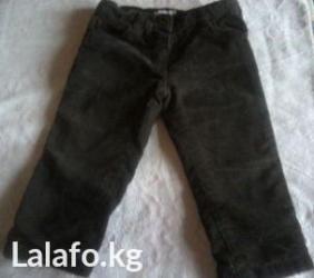 Теплые вельветовые штанишки до 1 года. Длина - 74 см в Бишкек