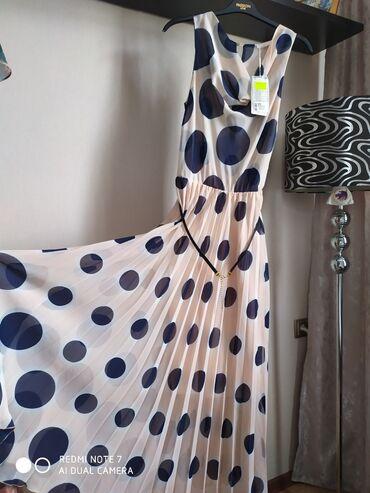 вечернее платье 48 50 размер в Кыргызстан: Новое шифоновое платье с подкладкой.Размер на 48-50. Турция. Платье
