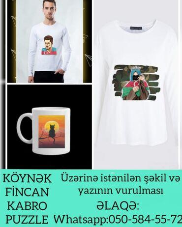 yaz geyimleri - Azərbaycan: İstənilən şəkil və yazının vurulması Sərfəli qiymət