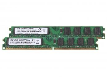 4gb 2x 2gb ddr2 2rx8 pc2-6400u 800mhz dimm desktop memory σε Edessa