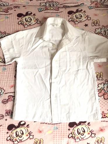 бодики с коротким рукавом в Кыргызстан: Рубашка белая с коротким рукавом, рост 116. Mark&spenser