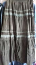 Suknja struka od - Srbija: Suknja od sitnog somota.Lastis oko struka.Maslinsta