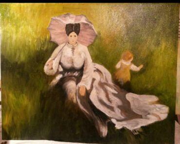 Slike   Sopot: Slika ulje na platnu. Bogat nanos boje.50x40. Autorka Iv. Tel