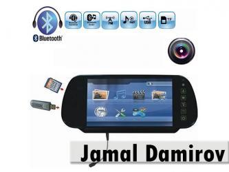 """Bakı şəhərində Guzgu monitor 7"""" usb, sd, fm, bluetooth, tft, arxa goruntu ucun"""