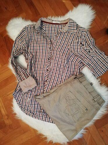 Sako i pantalone kompleti zenski - Srbija: Zenski Komplet XXL Karirana košulja dres'd ® 44 i pantalone prelepe