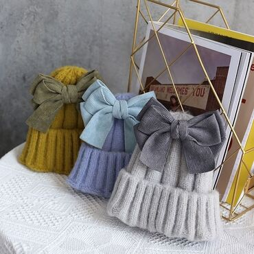 Зимние шапочки с милыми бантиками ⠀ ⠀⠀⠀⠀⠀⠀⠀⠀⠀⠀⠀⠀⠀⠀⠀  Размеры: стандар