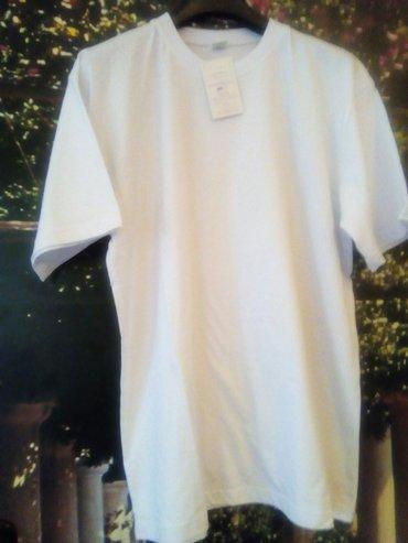 Bele muske majice vel. L, XL i XXL, klasican model, materijal 100% - Belgrade