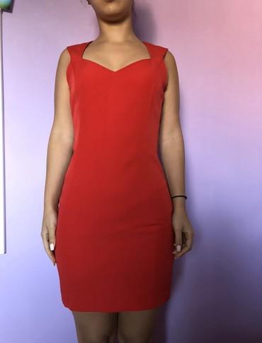 Crvena haljinica elegantna Mango  Velicina XS Obucena 2 puta, kao nova - Crvenka