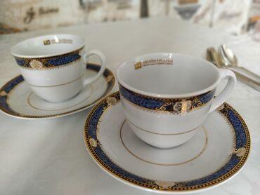 Подарочный Комплект из Тайского королевского фарфора. 2 чашки и 2