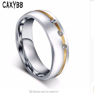 18k women wedding band ring gold silver plated  - Novi Sad