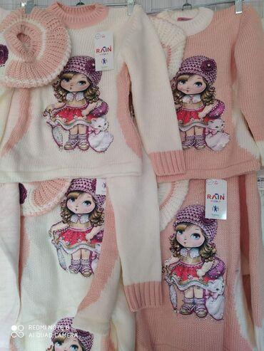 одежда для беременных в Кыргызстан: Очень красивая тёплая кофточка идёт в комплекте с шапочкой!!! Ткань