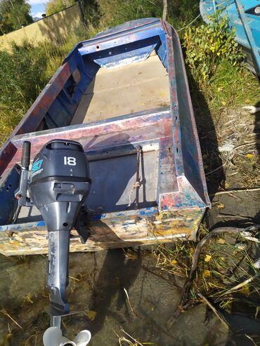 Водный транспорт - Кыргызстан: Продаю отличный водный мотор Микатсу 18 л.с. состояние очень хорошее