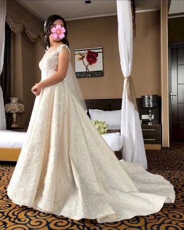 Детский мир - Бакай-Ата: Продается Свадебное платье цвета айвори, очень нежное, красивое, было