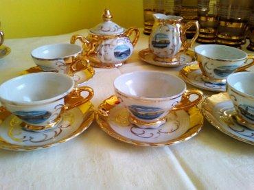 Bavaria, Zlatna Venecija komplet za kafu, tanak porcelan, posude za - Pozarevac