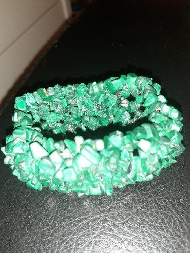 Брослет зеленый натуральные камни