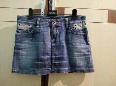 Стильная джинсовая юбка мини. Садится в Бишкек