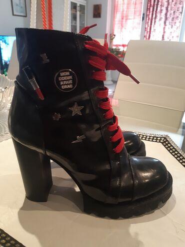 Broj cizme - Srbija: Moderne cizme obucene par puta samo, skoro nove. Broj 39