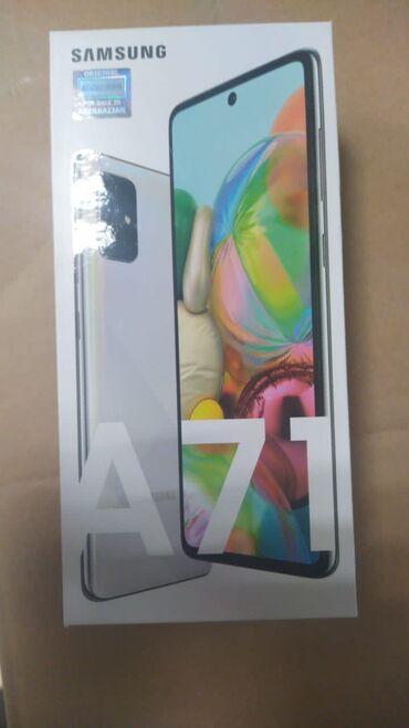 Samsung - Bakı: Samsung A71 -128 yaddas, 1 il resmi zemanetle, qeydiyyatli, topdan sat