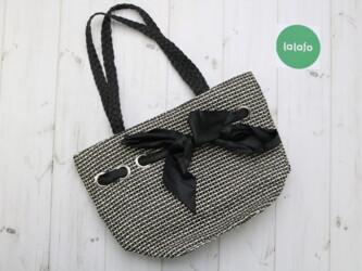 Плетеная женская сумка с ручками длинными Длина: 30 см Ширина: 43 см