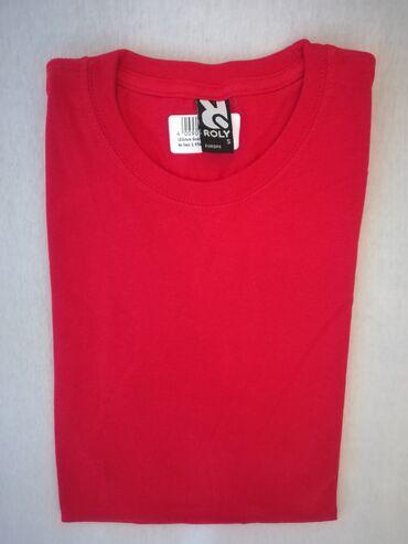 Men's T-shirts - Srbija: Muska majica, crvena, marka ROLY, velicina S i L, vrhunski kvalitet