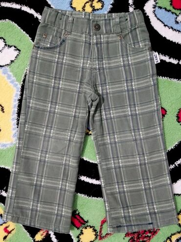 Termo pantalone - Srbija: Termo-pantalone - vel. 92!Postavljene, karirane Kanz pantalone sa