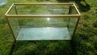 Akvarijum 90L namenjen za ribice a mogu i kornjace (potrebno je - Sremska Mitrovica